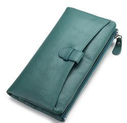 Klassische echtes leder frauen lange geldbörse kuh haut weiche brieftasche hohe qualität