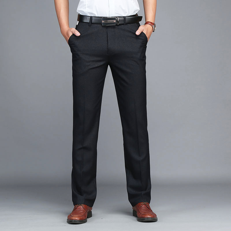 Vomint 2019 New Mens Pants Full Lenght Solid Simple Pants Trousers Men's Work Rayon Pants High Quality Suit Pants MS6508