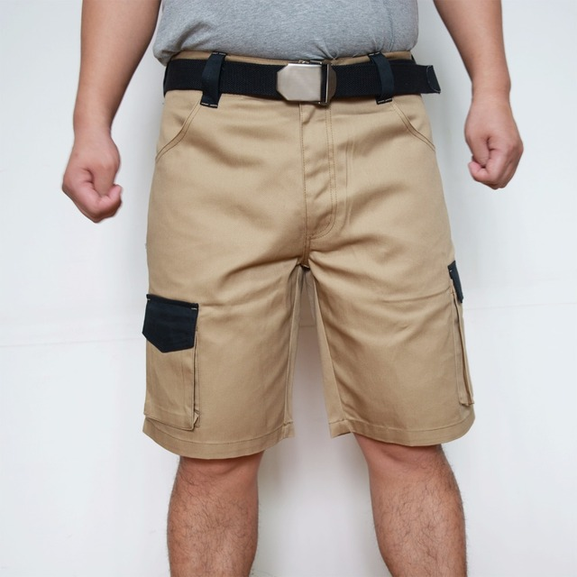 2019 New Design Men Cargo Shorts Summer Casual Working Shorts Hard Wearing Short For Men Plus Size Khaki Grey ID712