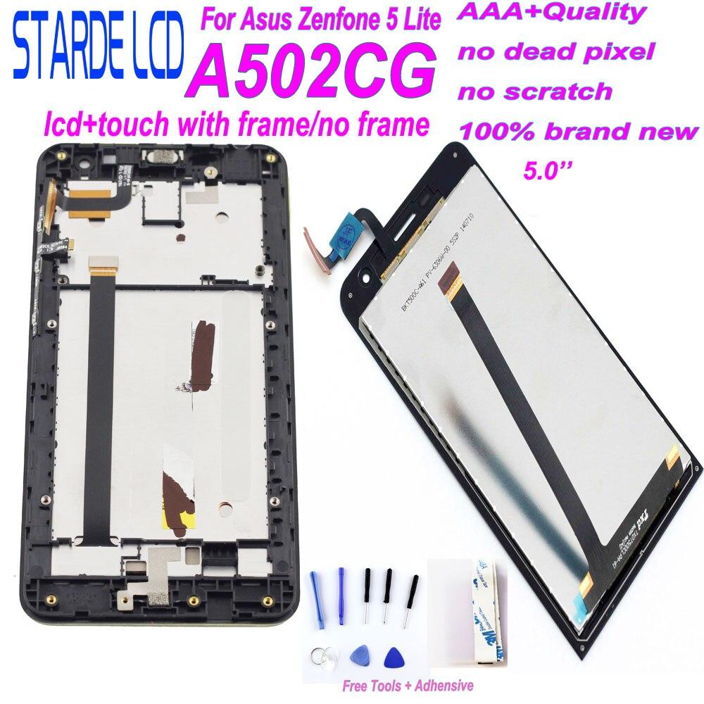 STARDE LCD pour Asus Zenfone 5 Lite A502CG LCD écran tactile numériseur assemblée avec cadre Version 4G avec outils gratuits
