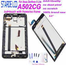 STARDE LCD for Asus Zenfone 5 Lite A502CG LCD Display Touch Screen Digitizer Assembly with Frame 4G Version with Free Tools free shipping for asus transformer tx300 tx300ca black lcd display monitor with digitizer touch screen glass assembly with frame