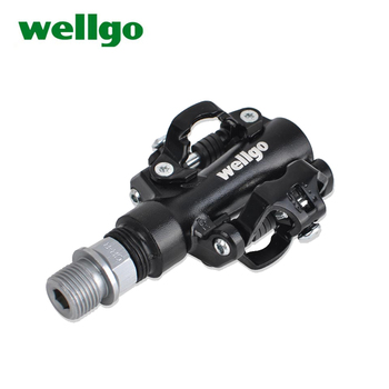 Wellgo pedales bicicleta MTB Mountain Bike Self-locking black Cycling Aluminum Alloy M094B SPD CliplessBicycle Ultralight pedals