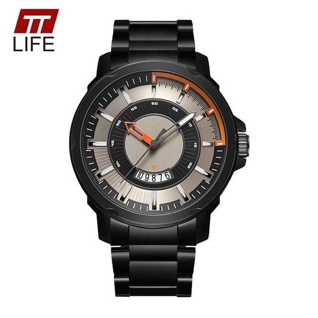 TTLIFE Calendar Watches Men Date Quartz Military Army Watch Top Brand Mens Wrist Watches Waterproof Business Clock for Men