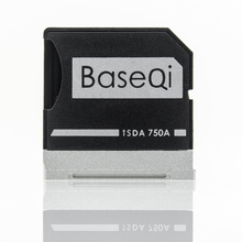 BaseQi Aluminum MiniDrive Micro SD T-Flash Card Memory Adapter Increase Storage For for Dell XPS 15″ 9550 Model 750A