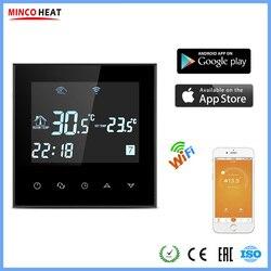 App controlado inteligente e inteligente wifi quarto termostato elétrico sistema de aquecimento controlador temperatura sem fio regulador
