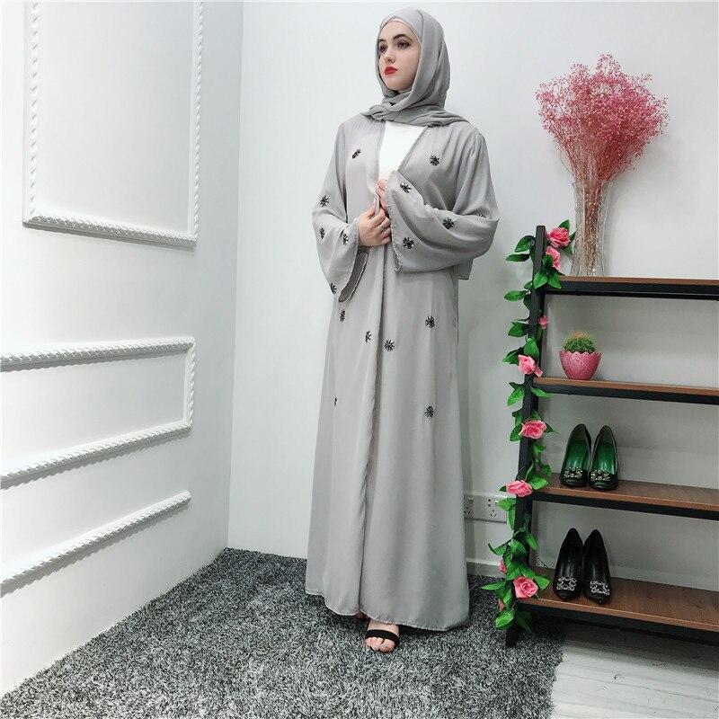 518d51d77d04 Ramadan Kaftan Abaya Kimono Robe Dubai Turkey Muslim Hijab Dress Jilbab  Caftan Marocain Islamic Clothing Abayas For Women Elbise
