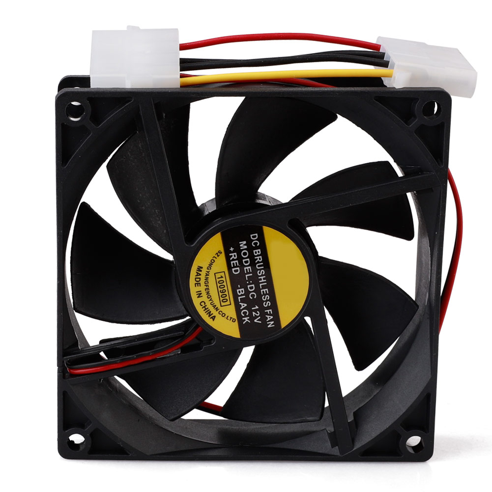 12V 4-Pin 90mm Cooler Computer PC CPU Silent Cooling Fan Case Quiet Cooler Fan 90x90x25mm