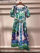 платья Ziwwshaoyu рукав-лепесток шеи