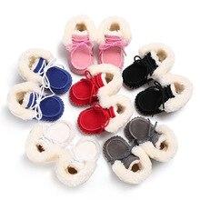 Зимние мужские и женские для детей 0-1 лет плюс бархатные теплые подошвы сапоги мягкая подошва, Детские обувь для малышей
