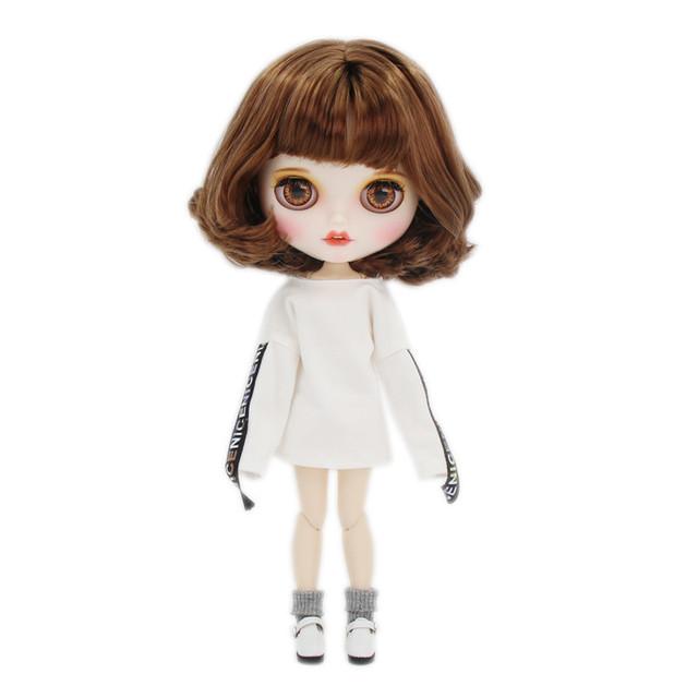Amelia - Premium Xüsusi Blythe Doll Geyimləri Gülən Üz ilə