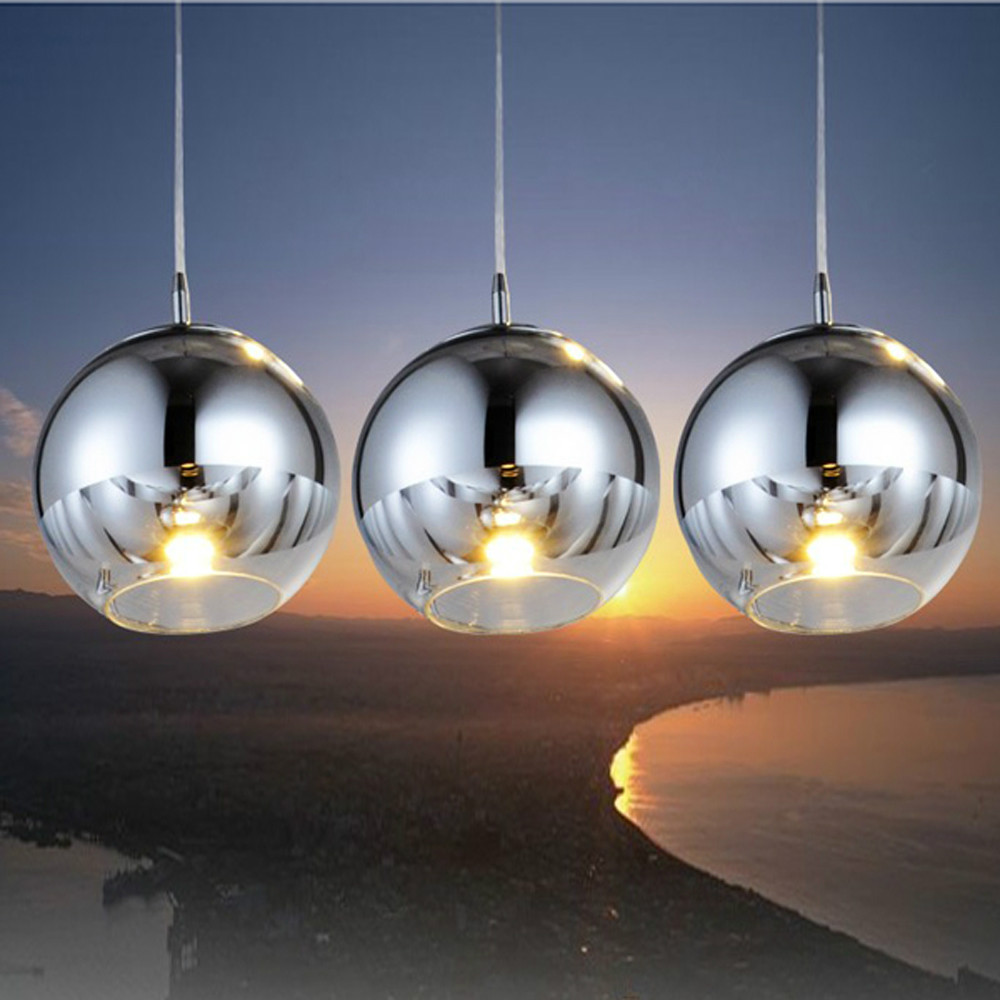 MAMEI Free Shipping 3 Lights Modern Glass Ball Pendant