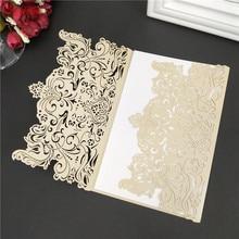 1 шт/10 шт/30 шт 12*18 см новые элегантные приглашения на свадьбу бумажные карты свадебные карты для украшения свадебной вечеринки 5ZSH073
