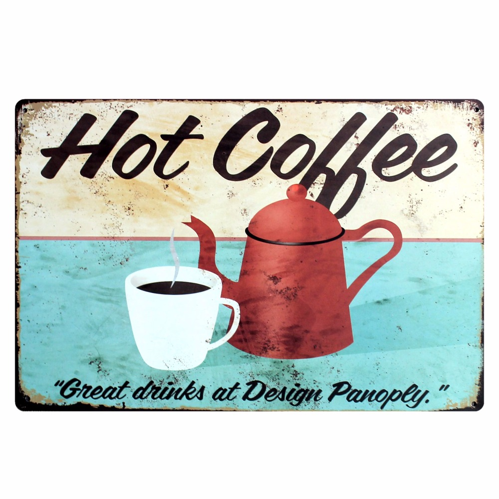 Costa Rica Coffee Tin Metal Sign Vintage Placas Decorativas Wall Pub Cafe Shop Home Art Decor Cuadros A 1011 in Plaques Signs from Home Garden