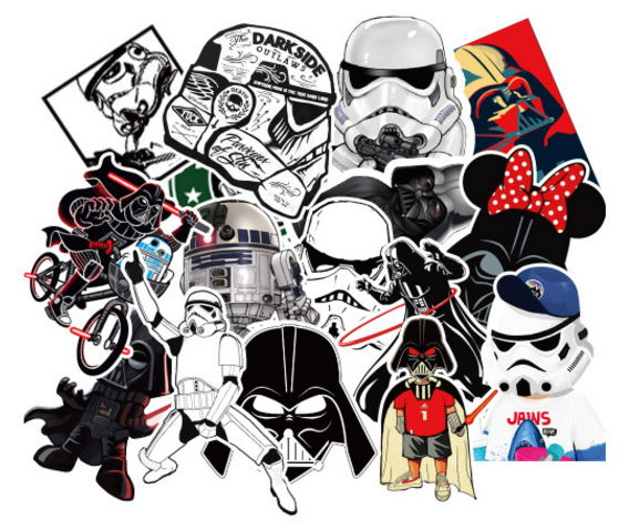 25Pcs/Lot Star Wars Mix Stickers Graffiti super hero Stickers For Kid DIY Skateboard Laptop Car Bicycle Waterproof Sticker toys