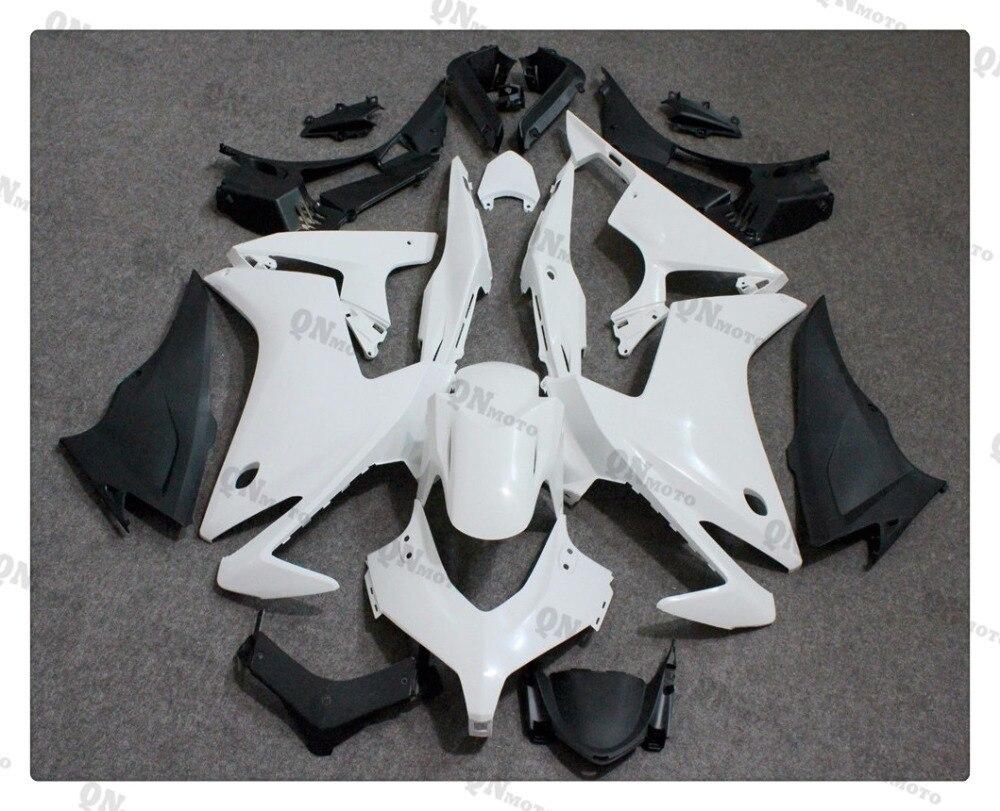 Мотоцикл ABS неокрашенный Белый комплект Обтекателя для Honda CBR500R CBR в 500 р 2013 2014 2015 + 4 подарок