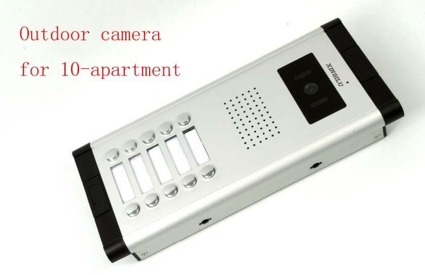 XINSILU Apartment Video Door Phone Camera Intercom IR Night Vision Doorbell for 10 Units Apartment Suitable 10-Stories Building building stories