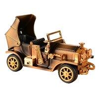 DIY Cars Model Music Box Mechanism Retro Automotive Plastic Craft Sankyo Musical Movement Bosca Ceoil Decoration