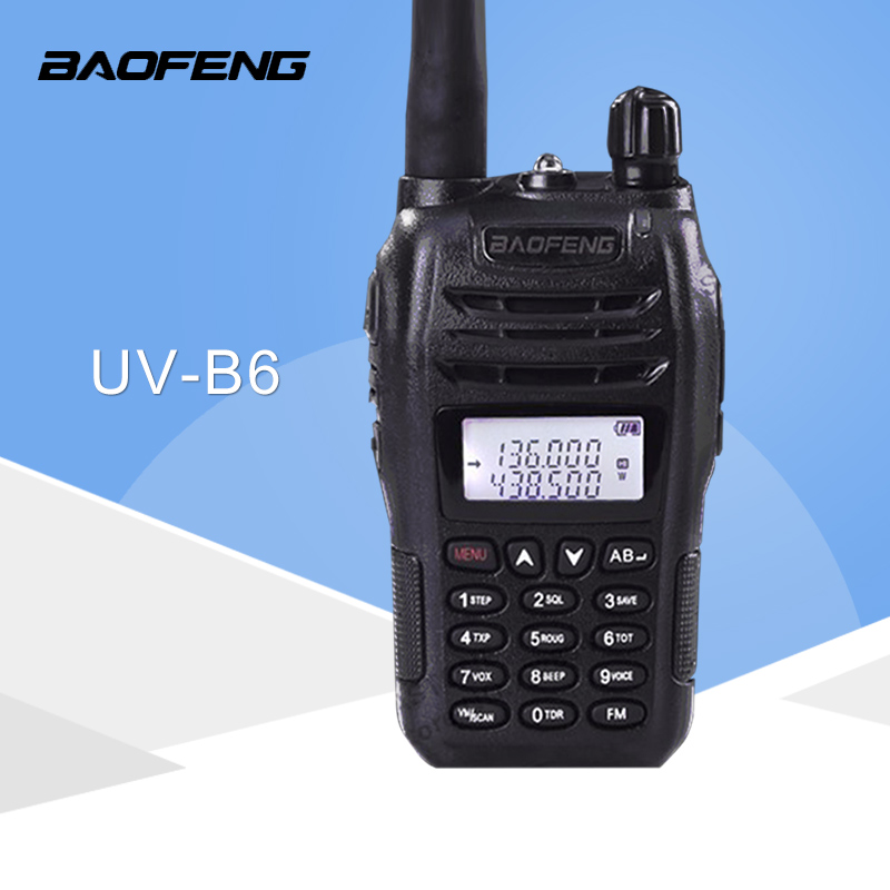 Walkie Talkie Baofeng UV B6 Dual Band Two Way Radio 5W 128CH UHF VHF FM VOX UV-B6 Ham RadioWalkie Talkie Baofeng UV B6 Dual Band Two Way Radio 5W 128CH UHF VHF FM VOX UV-B6 Ham Radio