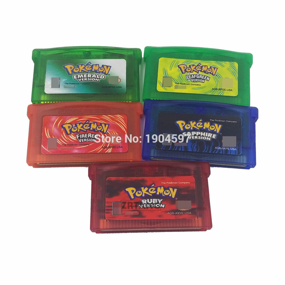 US Version GameBoy Advance Monster Go GBA SP NDSL Cartridge Pikachu special edition Game Card ruby, sapphire, leafgreen [100set 200pcs] brand new rotating shaft hinge axle part for gba sp gameboy advance sp game console replacement