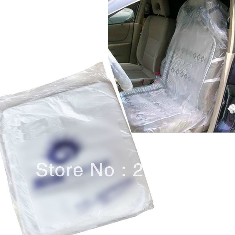 Plastic Seat Covers >> 10 Pcs Auto Car Repair Service Disposable Plastic Seat Covers Free
