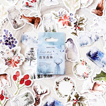 46pcs/box Lovely Foggy Forest Diary Decoration Stickers DIY Planner Scarpbooking sealing Label Sticker  Stationery