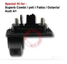 цена на For CCD Superb Combl Yesti Fabia Octavia Audi A1 Car Back Parking rear view Camera Trunk handle waterproof
