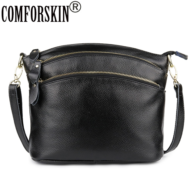 Bolsas Feminina Genuine Leather Large Capacity Women Handbags New Arrivals  European And American Cowhide Women s Messenger Bags 5cfb0e0788d14