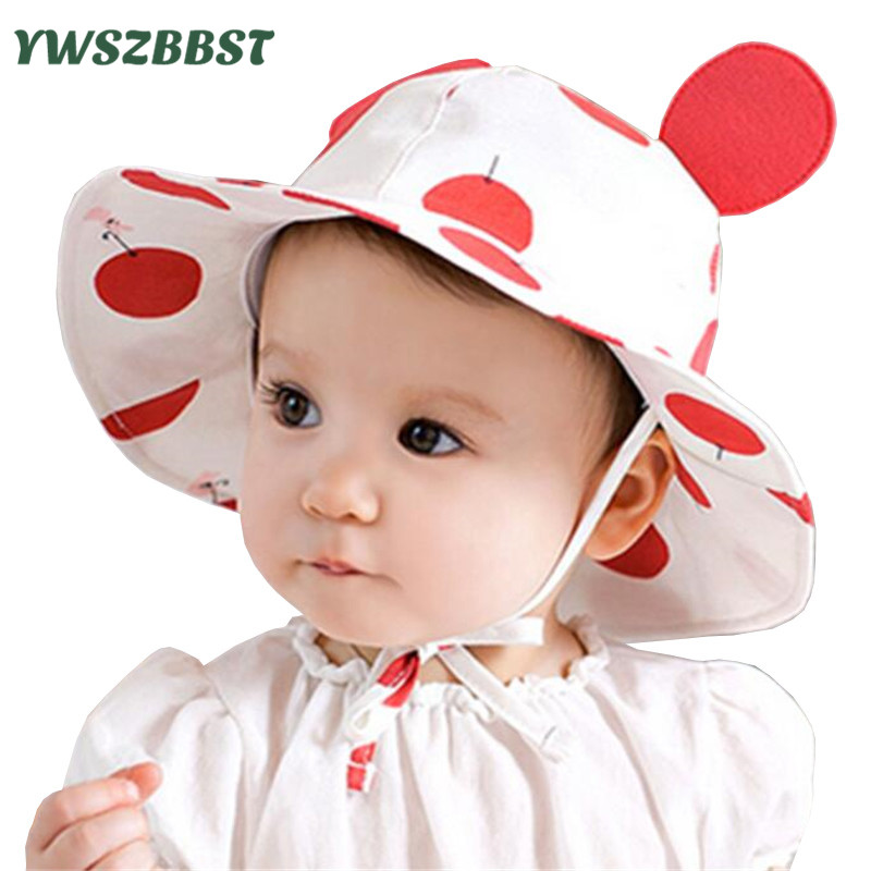 Summer Sun Hat Toddler Kids Niemowlę Sun Cotton Cap Jesień Cute Baby Girls Chłopcy Sun Beach Hat fit 0 do 2 lat