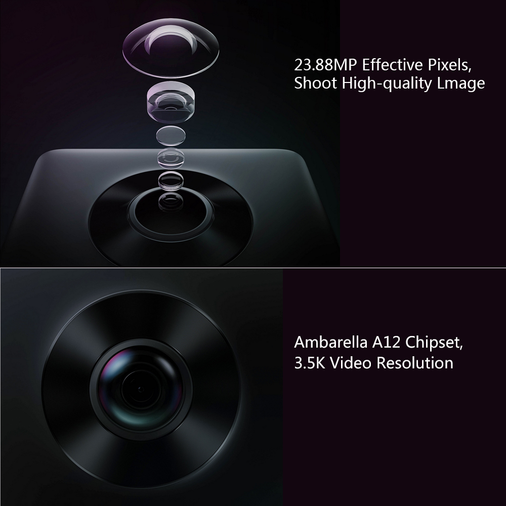 Globale Version Xiao mi mi jia 360 Panorama Kamera 23.88MP mi Kugel Kamera Action Kamera Ambarella A12 3,5 K Video aufnahme WiFi