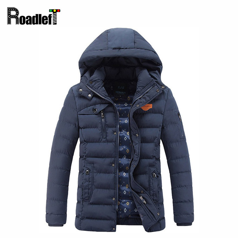 2017 Winter Mens Fashion Thickening Cotton Outerwear Men Warm Down Jacket Casual Parka Men Wadded Hooded Jacket Coat Clothing hot sale new winter mens jacket and coats fashion men cotton coat hoodies wadded military thickening casual outwear h4573