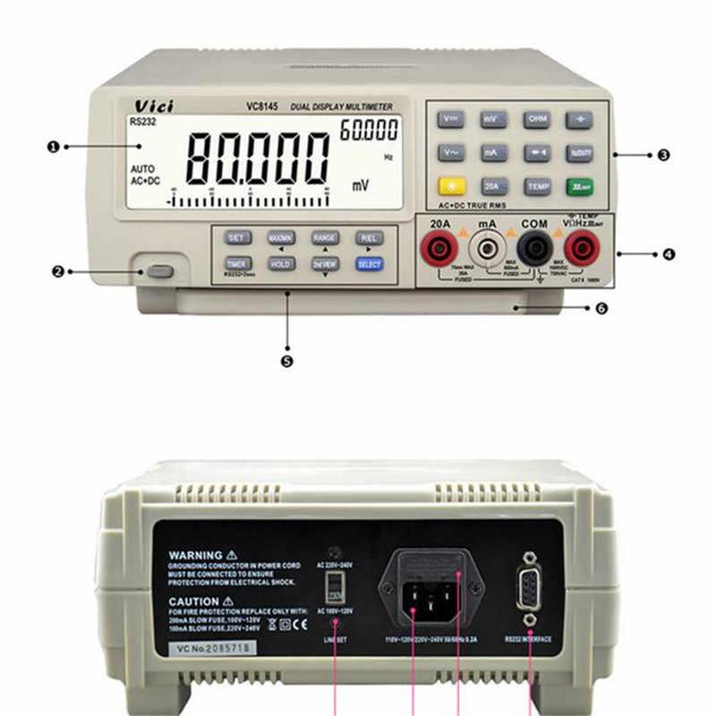 Vici VICHY VC8145 DMM Digital Bench Multimeter Temperature Tester PC Analog UK98