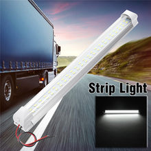 12V 48 LED Car Interior Strip Grill Light Bar Hard Rigid Tube Cabinet Lamp RV Aluminum Substrate + Base Truck Car Lighting(China)