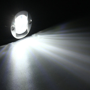 Image 5 - Barco marino de 12V luz LED de popa travesaño Acero inoxidable blanco luz trasera redonda impermeable