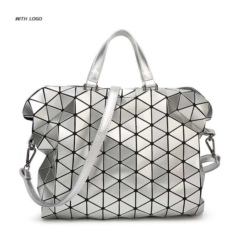 f1cc8b5942 Geometric Design Fashion Bao Bao Handbag Foldable Plaid Women Shoulder Bag  Quilted Folded Casual Large Shopping Bag For Women-in Shoulder Bags from  Luggage ...