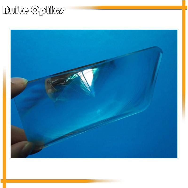 2PCS Optical PMMA Plastic LED Condensing Fresnel Lens 3x Magnifier Magnifying Glass Focal Length 220mm 2pcs 150mm big optical pmma plastic round solar condensing compound eye fresnel lens improving brightness of light focal length