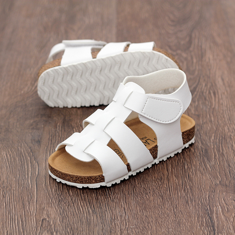 LARTUS Childrens Shoes New Girls Sandals Open Toe Shoes Fashion Roman  Gladiator Sandals Boys Girls Mixed Color Cork Shoes 68e41ccb0bd6