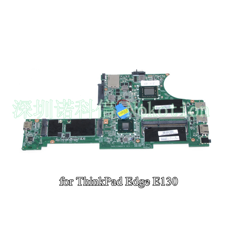 NOKOTION FRU 04Y1362 DA0LI2MB8F0 For Lenovo Thinkpad Edge E130 X131E laptop motherboard SR0U4 i3-2375M nokotion sps v000198120 for toshiba satellite a500 a505 motherboard intel gm45 ddr2 6050a2323101 mb a01