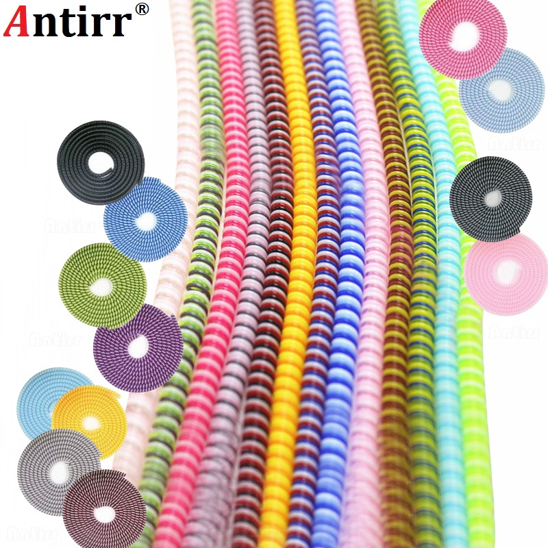 1.5M MIX Color Phone Wire Cord Rope Protector USB Charging Cable Bobbin Winder Data Line Earphone Cover Suit Spring Sleeve Twine