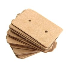 100 Pcs/Lot Kraft Paper Tag Packaging Label Luggage Party Wedding Note DIY Blank Card Price Gift Hang Tag Paper Label(China)