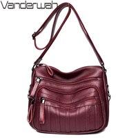 VANDERWAH Brand Fashion Soft Leather Shoulder Bags Female Crossbody Bag Portable Women Messenger Bag Tote Ladies