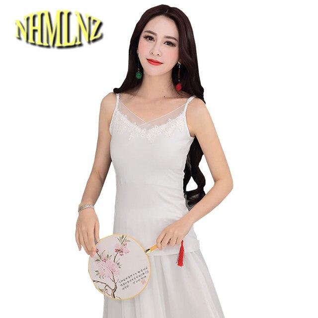 a486bf466f Women Summer T-shirt New Fashion Sexy Condole belt Vest Pure color Slim  Cotton T-shirt 2019 Charm women s clothing OK220