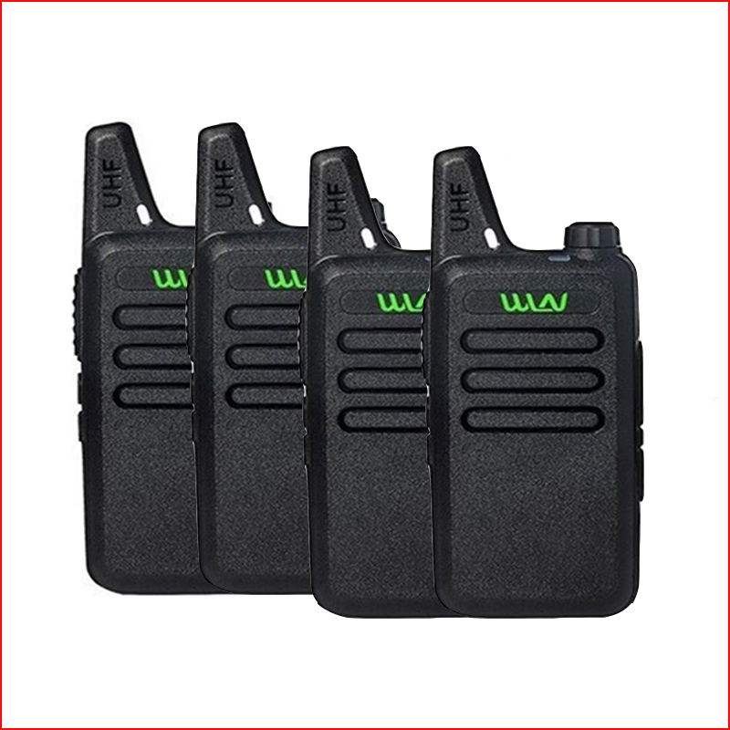 4pcs Mini Walkie Talkie two way radio station WLN KD C1 for ham radio mobile cb