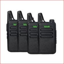 Walkie talkie wln KD-C1 para rádio ham, 4 unidades, duas vias, transmissor móvel, longo alcance baofeng bf-888s