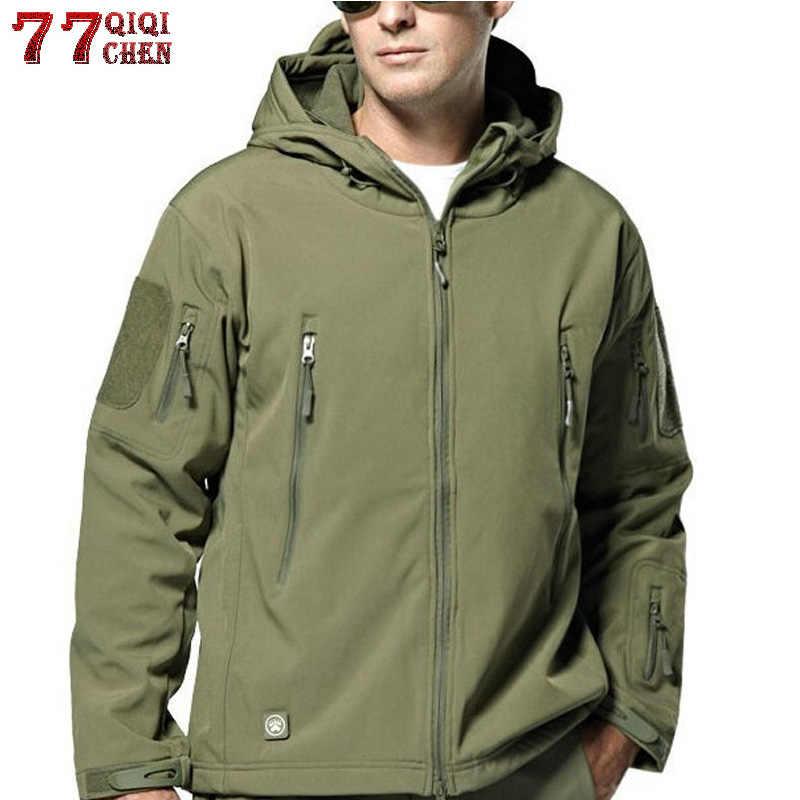 Новая 2018 Военная тактическая куртка мужская плюс размер 3XL водостойкая мягкая оболочка змея камуфляжная куртка мужская тактическая армейские куртки Мужская s