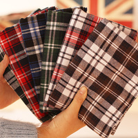 Cotton Flannel Cloth Sanding British Grid During The Spring And Autumn Winter Shirt Skirt Fabric Cloth