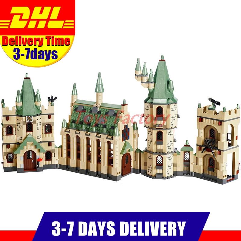 DHL Lepin 16030 Movie Series Hogwort Ibaraki Castle Educational Building Blocks Bricks Model Toys Clone 4842 dhl lepin 07060 1969pcs classic movie series building blocks bricks for education toys 7111