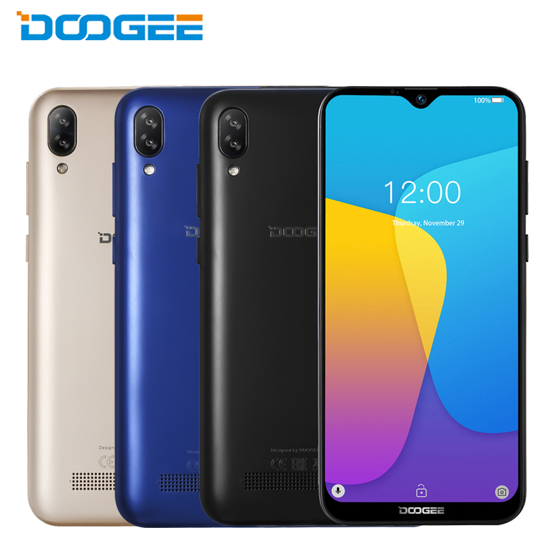 Original DOOGEE Y8C Mobile Phone 6.1inch Waterdrop LTPS Screen 1GB RAM 16GB ROM MTK6580 Android 8.1 3400mAh Dual SIM Smartphone