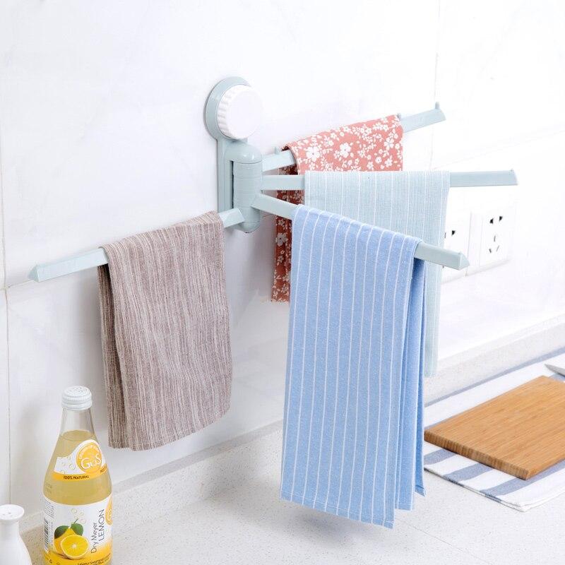Suction cup towel holder rotating towel rack bathroom for Bathroom accessories towel holder