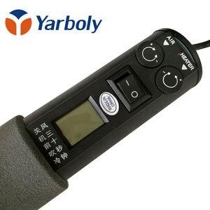 Image 3 - 220V 450W LCD regulowany elektroniczny ciepła gorąca wiatrówka suszarka do włosów stacja lutownicza IC SMD przeróbka BGA 4 dysza 8018LCD vs 8858