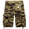 Men's cargo shorts 2016 New summer 100% cotton Multi-pocket camouflage cargo shorts Outdoors beach shorts Casual shorts